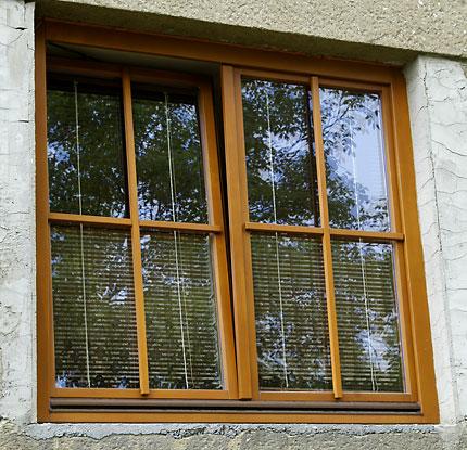 Dřevěná okna jednoduchá